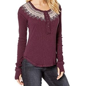 NWT Free People Fair Isle Thermal Henley